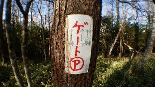本沢温泉林道ゲート駐車場