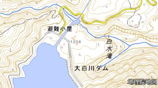 白山 平瀬道登山口 大白川ダム